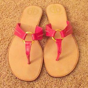 EUC Lilly Pulitzer Mckim Patent Leather Sandals